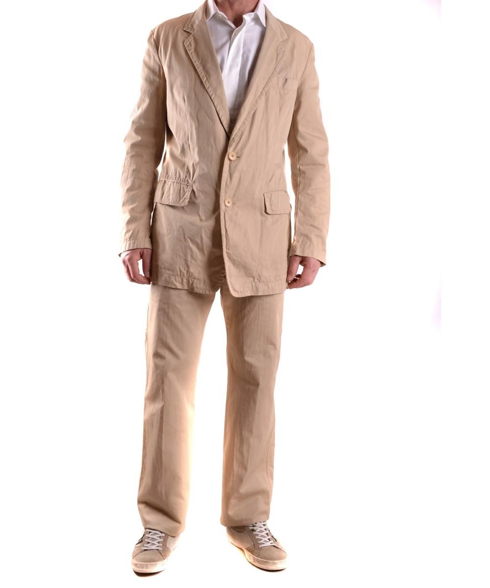 Yohji Yamamoto Men's  Beige Cotton Suit In Brown