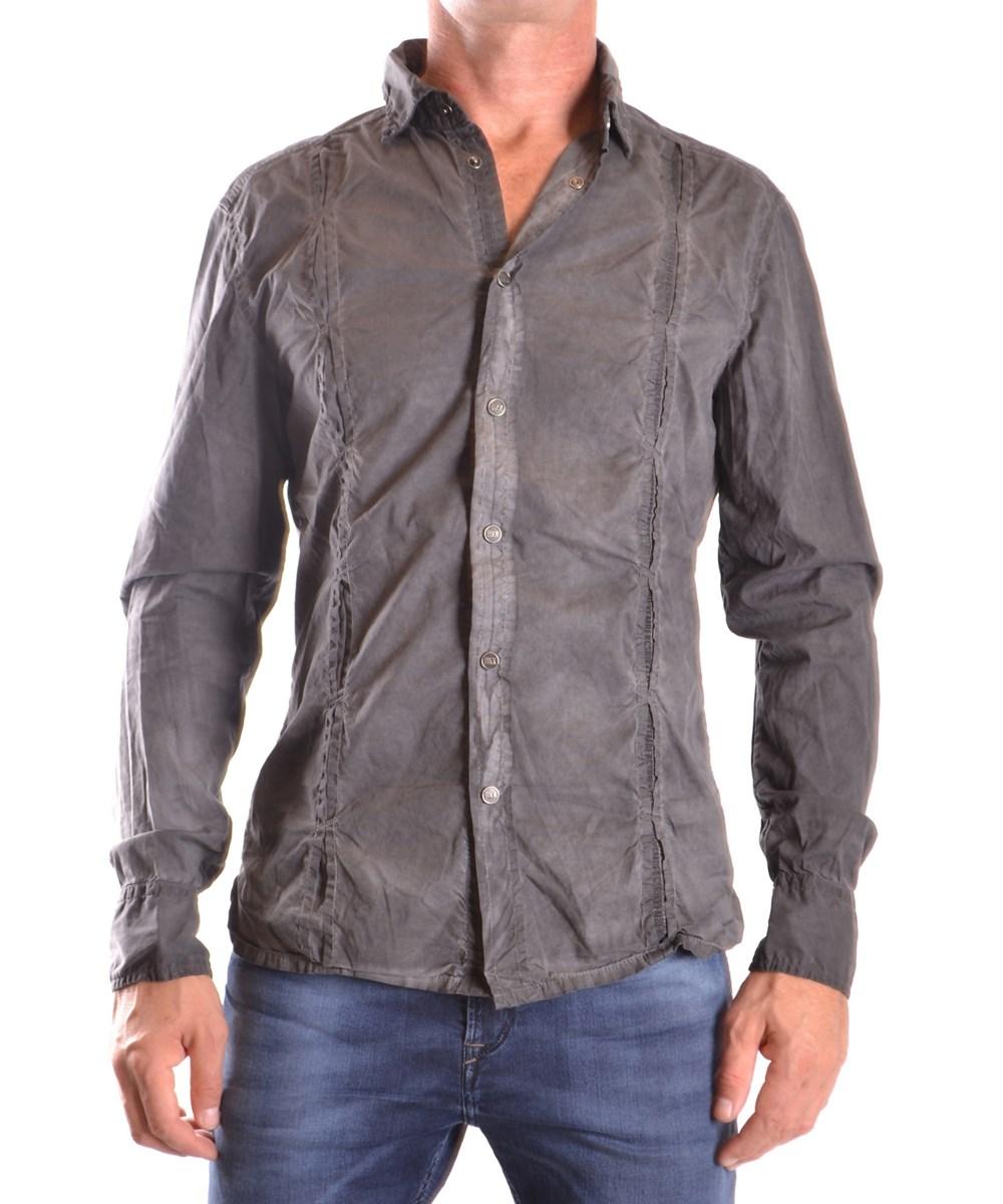 Bikkembergs Men's  Grey Cotton Shirt