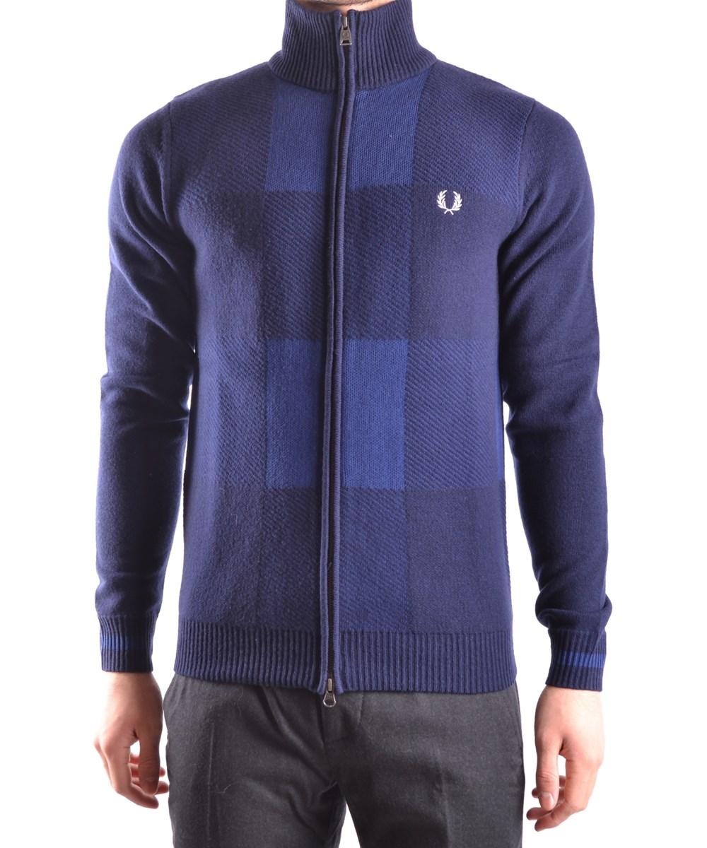 Fred Perry Men's  Blue Wool Sweatshirt