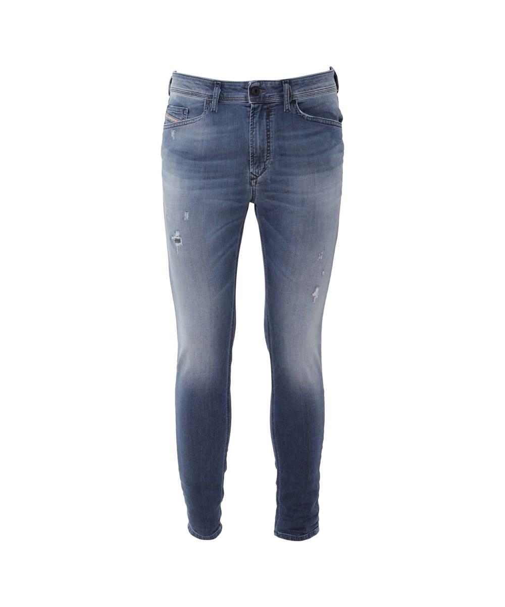 Diesel Men's  Blue Cotton Jeans