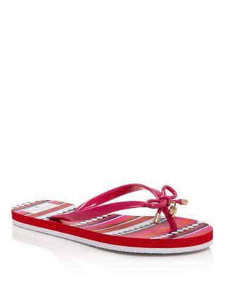 Kate Spade 'Nova' Flip Flop In Pink Swirl