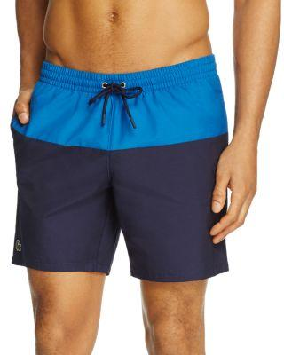 Lacoste Drawstring Swim Trunks - 100% Exclusive In Navy Blue