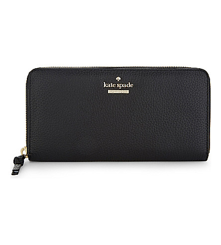 Kate Spade Leather Jackson Street Lacey Wallet In Black