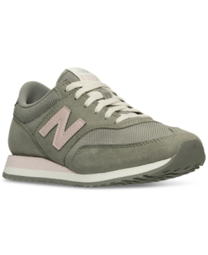 New Balance Women's 620 Casual Sneakers From Finish Line In Vetiver/Pink