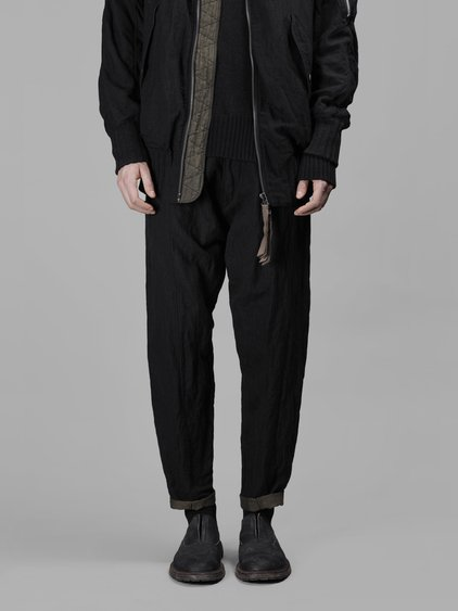 Ziggy Chen Men's Black Classic Large Trousers