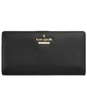 Kate Spade New York Jackson Street Stacy Pebbled Leather Continental Wallet In Black