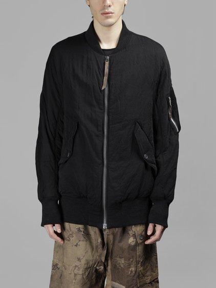 Ziggy Chen Men's Black Down Bomber Jacket