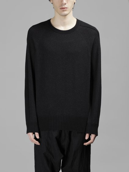 Ziggy Chen Men's Black Oversize Knit Sweater
