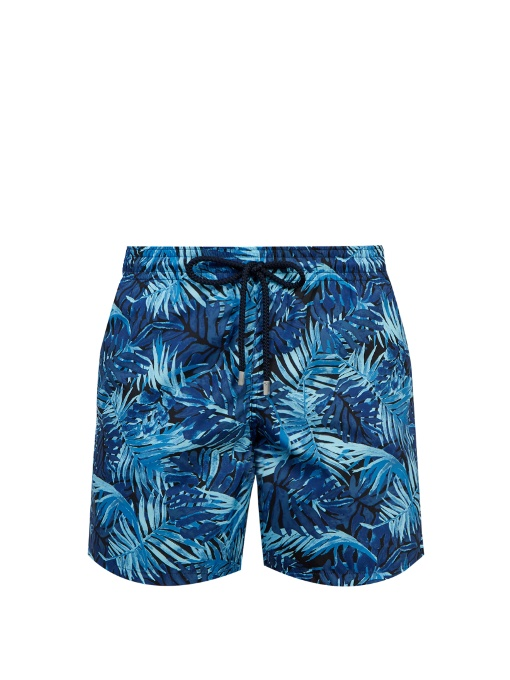 8489018704 Vilebrequin Men Swimwear - Madrague Lightweight Packable Swim Shorts - Swimming  Trunk - Mahina In Blue