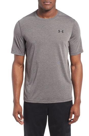 Under Armour Regular Fit Threadborne T-Shirt In Carbon Heather