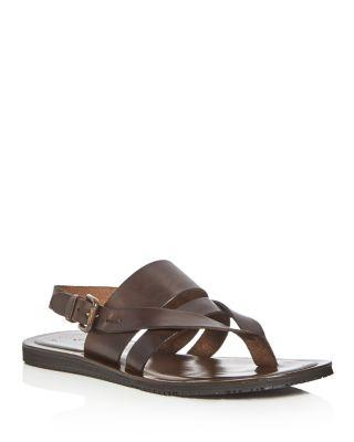 Kenneth Cole Men's Reel-Ist Leather Thong Sandals In Brown