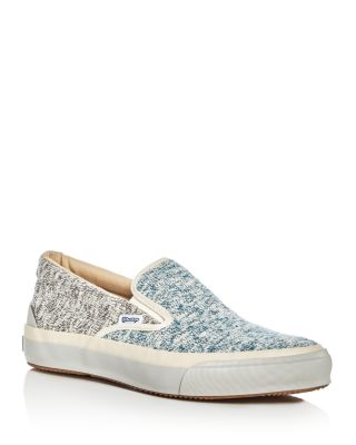 The Hill Side The Hill-Side Slub Jersey Slip-On Sneakers In Blue