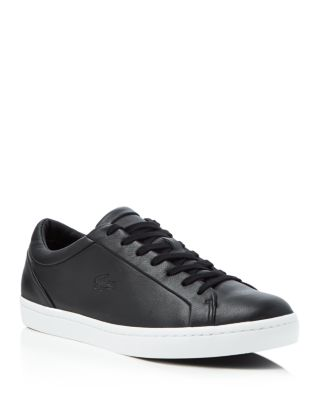 Lacoste Straightset Lace Up Sneakers In Black