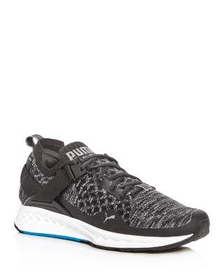 Puma Men's Ignite Evoknit Lace Up Sneakers In Black