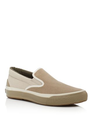 The Hill Side The Hill-Side Two-Tone Synth Suede Slip-On Sneakers In Tan