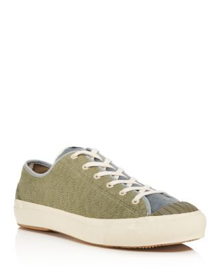 The Hill Side The Hill-Side Slub Low Sneakers In Green