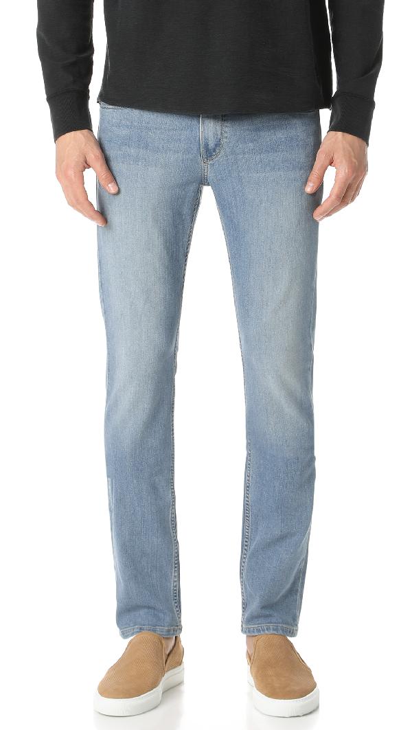 Paige Federal Slim Fit Jeans In Reymore In Indigo