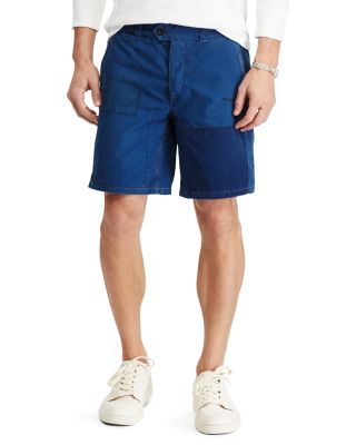 Polo Ralph Lauren Straight Fit Cotton Shorts In Blue