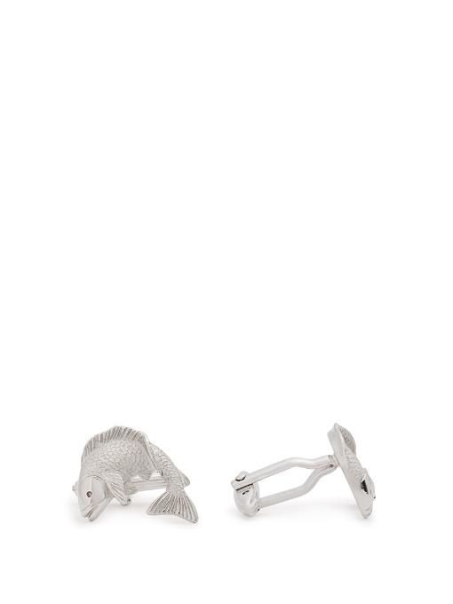 Lanvin Fish Cufflinks In Silver