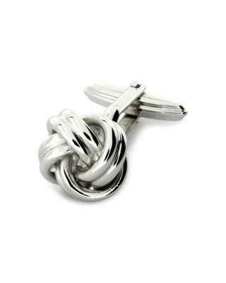 Lanvin Knot Cufflinks In Rhodium