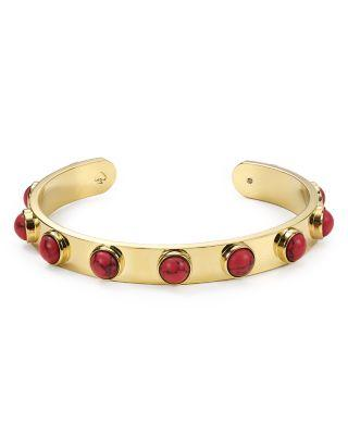 Kate Spade New York Dotted Cuff In Gold/Red