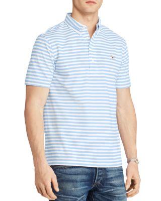 Polo Ralph Lauren Hampton-Stripe Regular Fit Polo Shirt In Blue/White