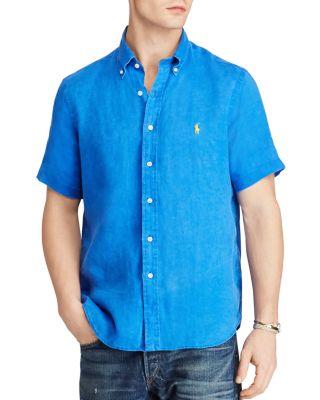 Polo Ralph Lauren Ocean-Wash Classic Fit Button-Down Shirt In Blue Reef