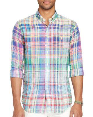 Polo Ralph Lauren Ocean-Wash Classic Fit Button-Down Shirt In Chroma Blue/Purple Multi