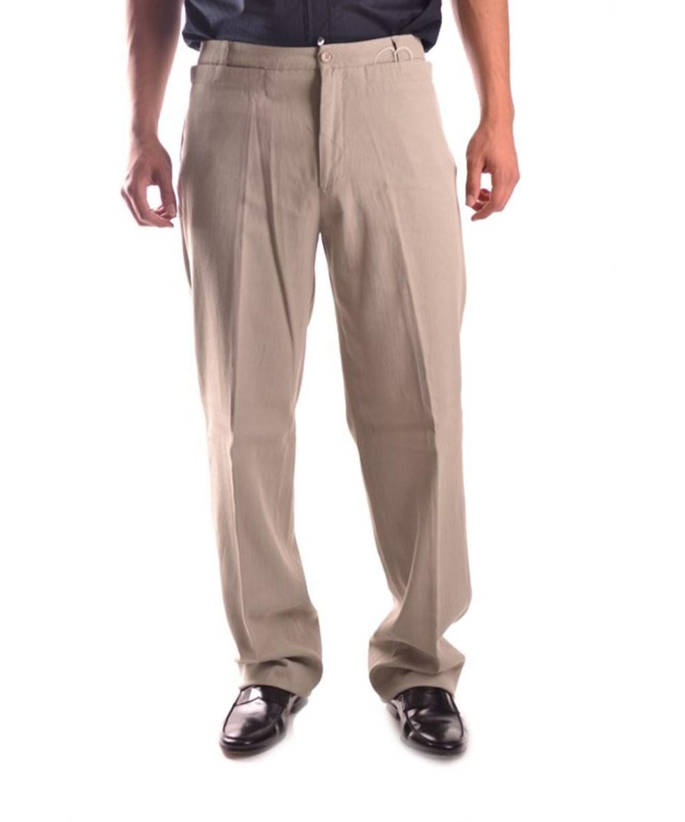 Bikkembergs Men's  Beige Viscose Pants In Brown