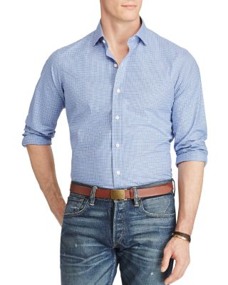 Polo Ralph Lauren Estate Checked Classic Fit Button-Down Shirt In Sapphire Blue/White Multi