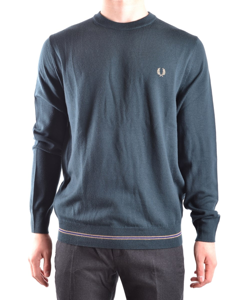 Fred Perry Men's  Green Wool Sweater