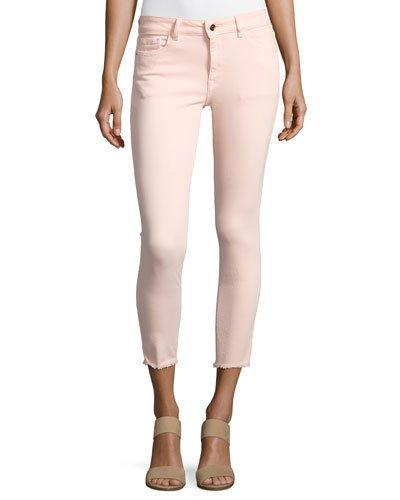 Dl1961 Florence Instasculpt Cropped Jeans, Pink In Hibiscus