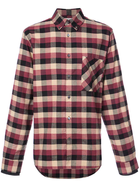 Public School Leto Plaid Casual Button-Down Shirt In Red