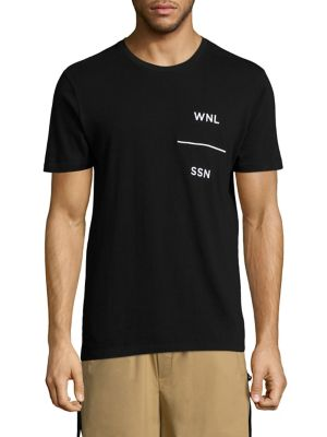 Public School 'Grohl' Acronym Embroidered T-Shirt In Black