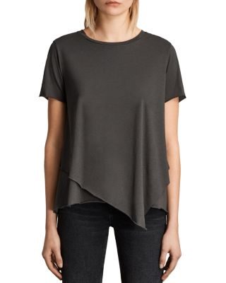 Allsaints Daisy Tee In Pirate Black