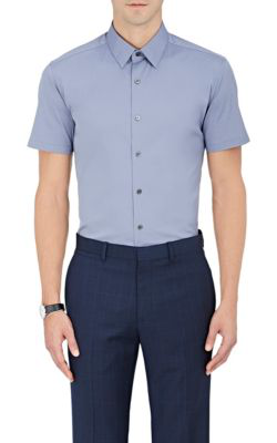 Theory Sylvain S Wealth Short-Sleeve Shirt, Royal In Blue