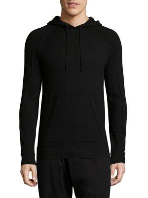 Helmut Lang Kangaroo Pocket Combo Hoodie In Black