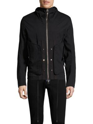 Helmut Lang Hooded Utility Jacket In Black