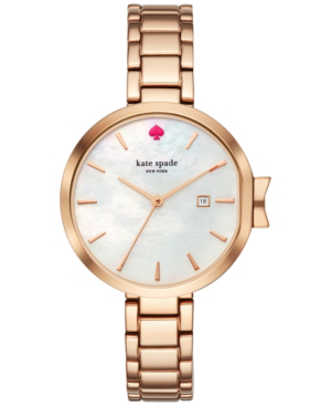 Kate Spade Park Row Rose Gold-Tone Stainless Steel Bracelet Watch