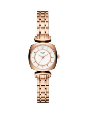 Kate Spade Barrow Leather Strap Watch, 24Mm In Rose Gold/Gold