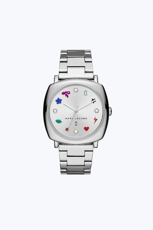 Marc Jacobs Mandy Bracelet Watch, 34Mm In Stainless/Silver