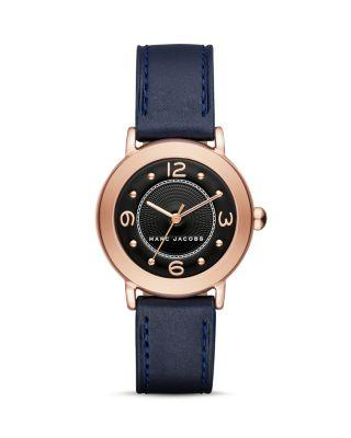 Marc Jacobs The Riley Watch 28Mm In Black/Rose Gold