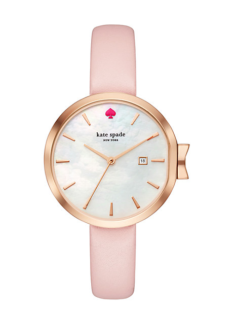 Kate Spade Park Row Leather Strap Watch, 34Mm In Barely There