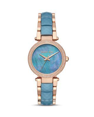 Michael Kors Parker Watch, 33Mm In Blue/Rose