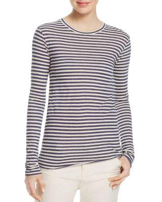 Vince Stripe Long Sleeve T-Shirt In Night