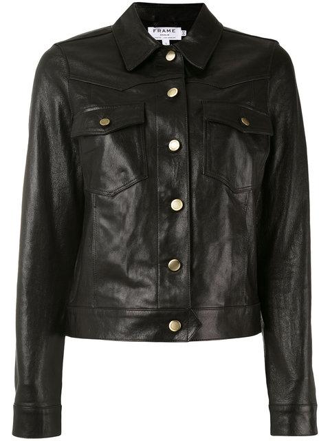 Frame Buttoned Jacket - Black