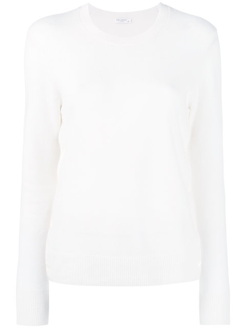 Equipment Cashmere Side-Button Sweater In White