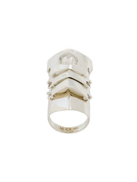 Vivienne Westwood Short Knuckle Ring In Grey