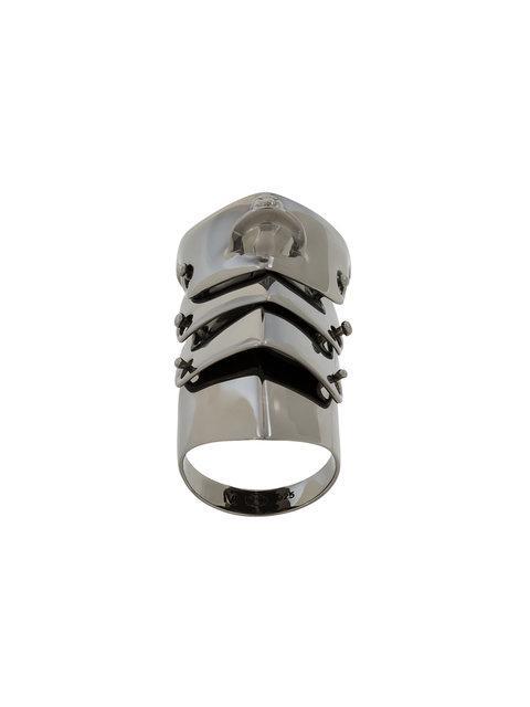 Vivienne Westwood Armour Knuckle Ring - Metallic