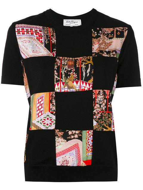 Salvatore Ferragamo Patchwork Jersey T-Shirt